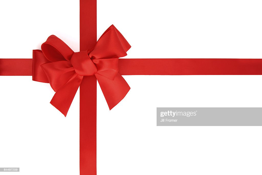 Red Ribbon Isolated on White : Stock Photo