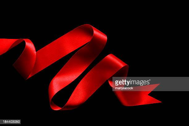 Red Ribbon on black background