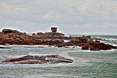 Red rock at Ploumanac'h Bretagne France