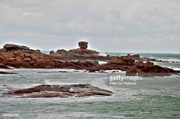 Red rock at Ploumanac'h Bretagne France