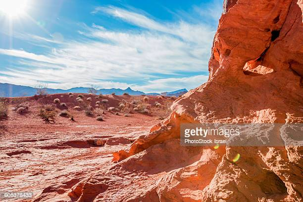 Red rocks and blue sky, Valley of Fire State Park, Nevada, USA