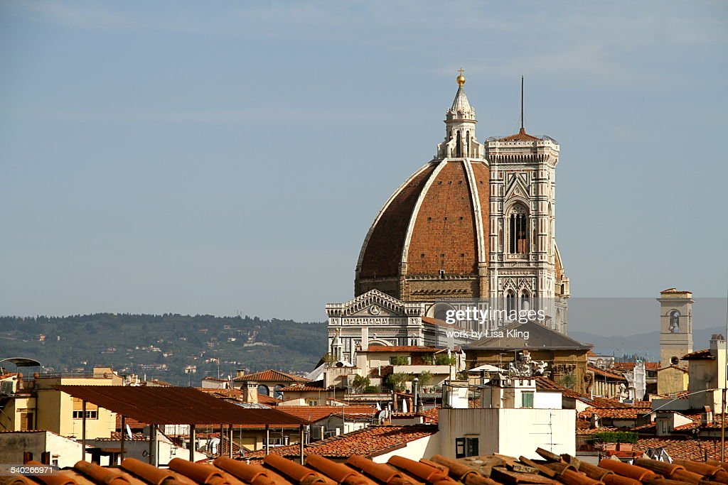 Red Roofs Of Florence And The Duomo : Stock Photo