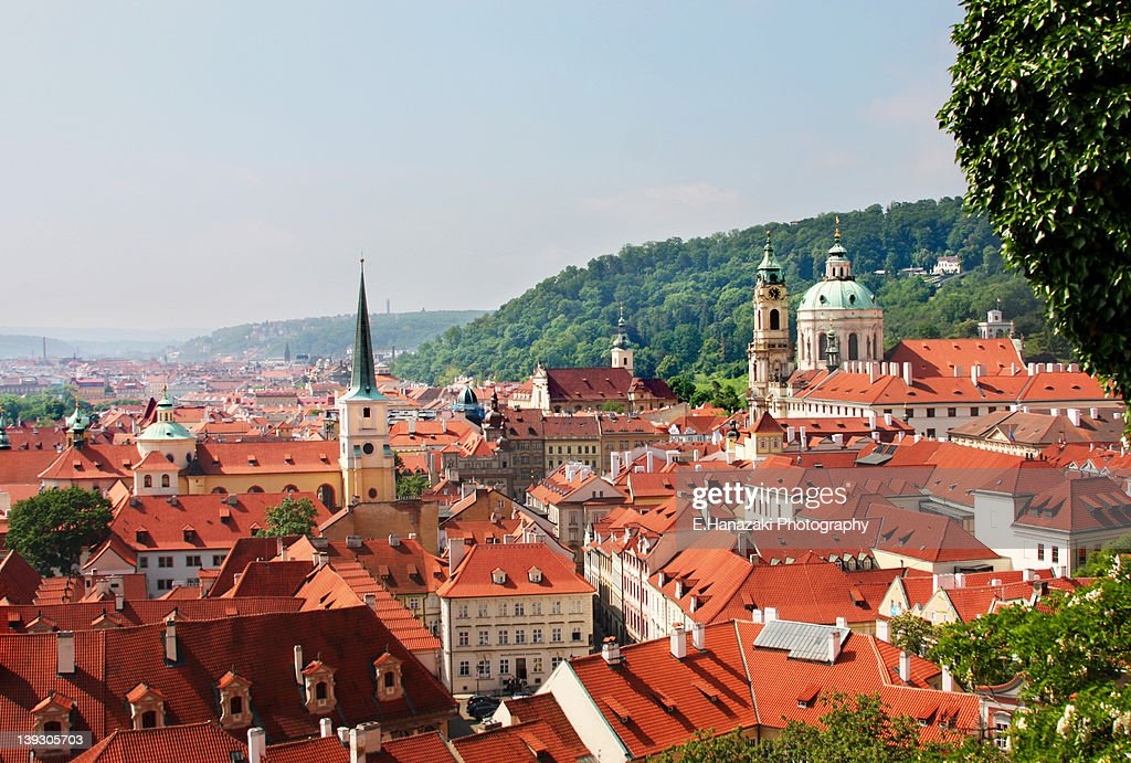 Delightful Red Roofs Of Prague : Stock Photo