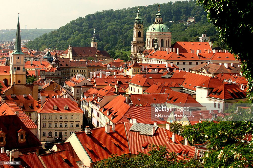 Red Roofs Of Prague : Stock Photo