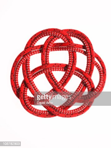 Red rope looped together