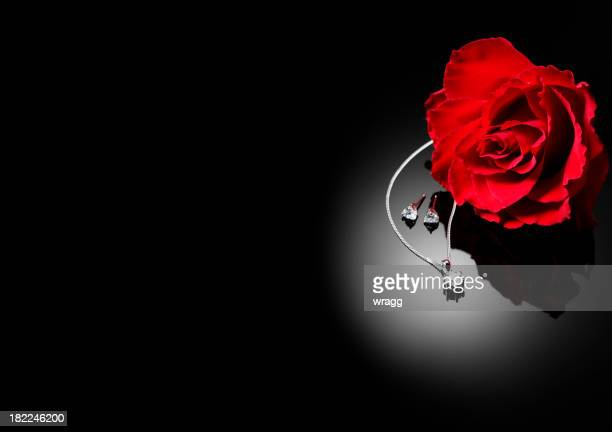 Rosa rossa e Diamond Jewllery
