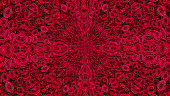 The Natural Beauty of Blooming Red Roses Set in a Symmetrical Pattern.