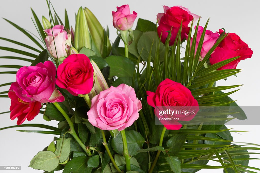 Red Roses In A Vase Symbolic Of Love And Compassion Stock Photo