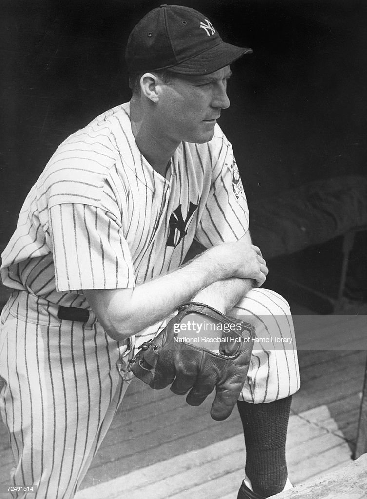 Red Ruffing of the New York Yankee looks on from the dugout in 1939. Charles Ruffing played for the New York Yankees from 1930-1947.