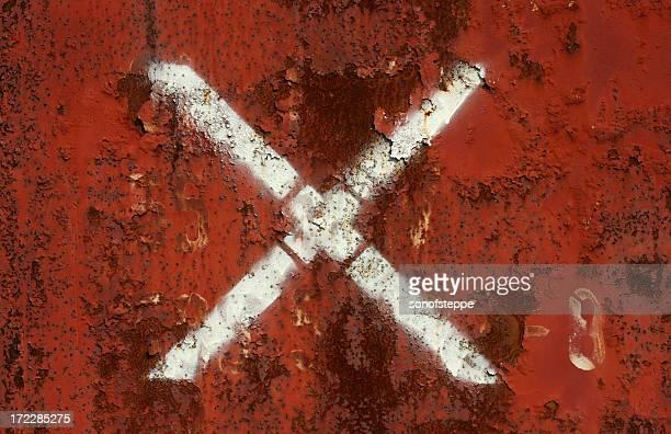Vermelho & enferrujado X