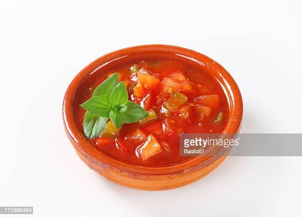 red salsa dip