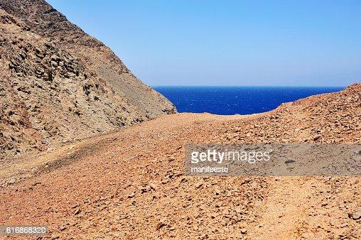 Red Sea coastline in Egypt : Stock Photo