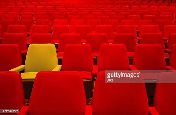 レッド席と 1 つの異なる
