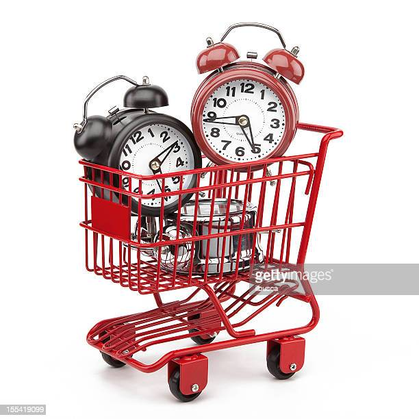 Red shopping cart series: Kauf Zeit