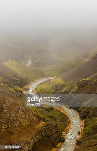 Red Shore River Kerlingarfjoll Iceland : Foto stock