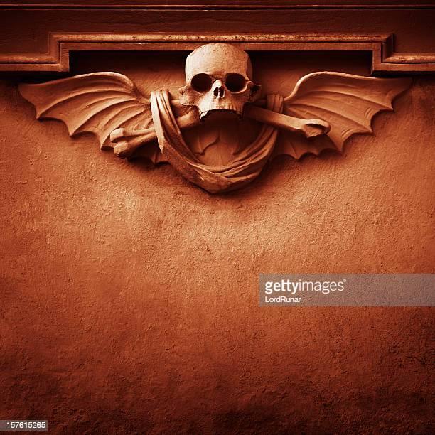 Red skull background
