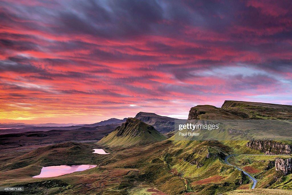 Red sky on Skye