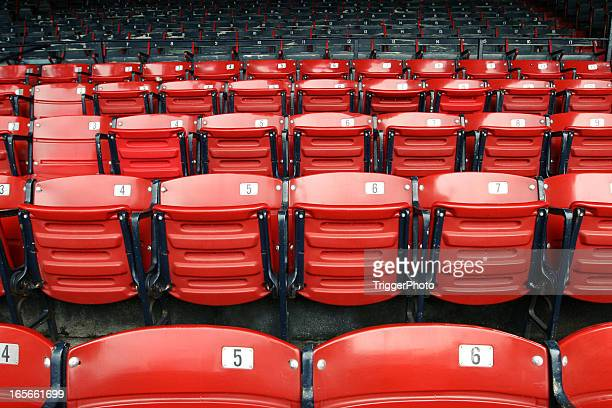 Red socks seats when no one is there