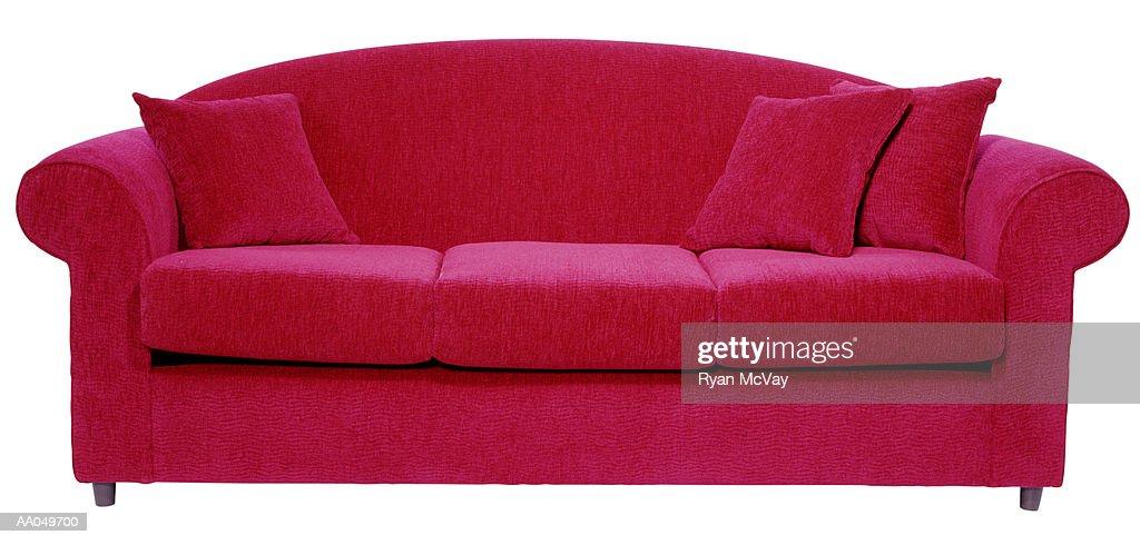 Red Sofa : Stock Photo