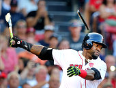 Red Sox designated hitter David Ortiz cracks his bat on a first inning swing The Boston Red Sox hosted the Minnesota Twins in a regular season MLB...
