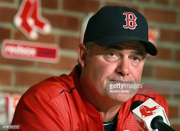 Red Sox manager John Farrell is pictured during his pre game media session Later Red Sox owner John Henry took questions from the media on the state...