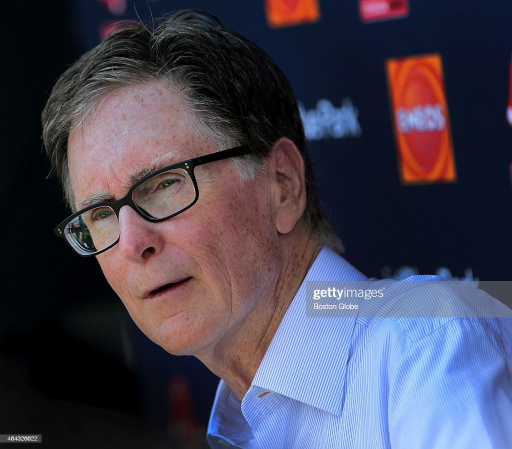 Red Sox owner John Henry arrived today at Jet Blue Park and addressed the assembled media.