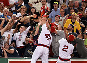 Red Sox third baseman Travis Shaw won a battle with souvenirseeking fans as he made the catch of a top of the fifth inning foul ball off the bat of...