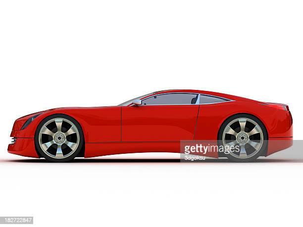 レッドスポーツ車