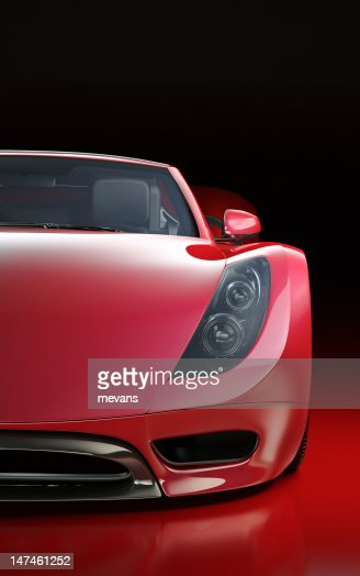 Red Sports Car : Stock Photo
