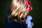 Red spotty hairbow ribbon
