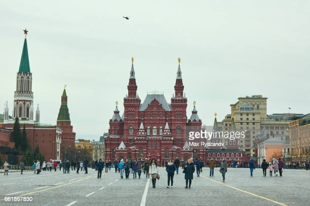 Red Square at cloudy day