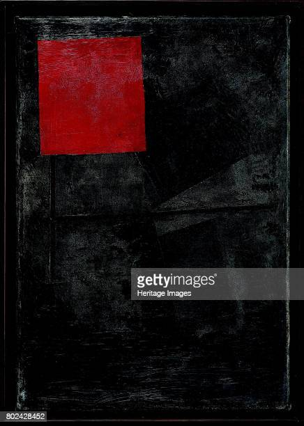 Red square on a black background 19201924 Private Collection