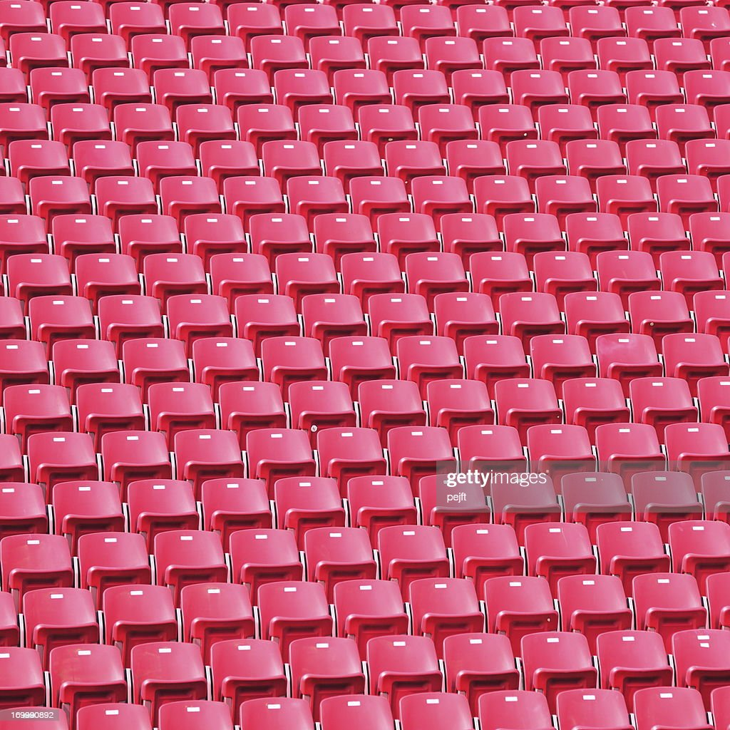 Red stadium seats : Stock Photo