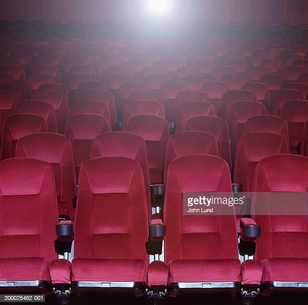 Red stadium theater seats