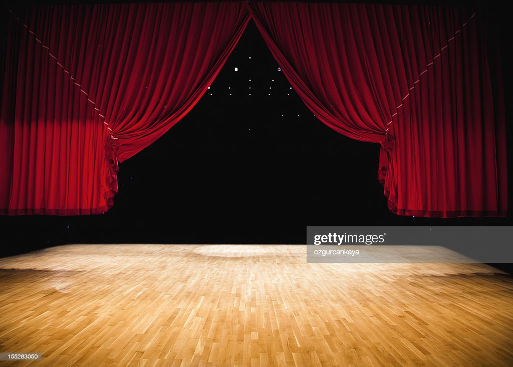 Red Stage Curtain : Stock Photo