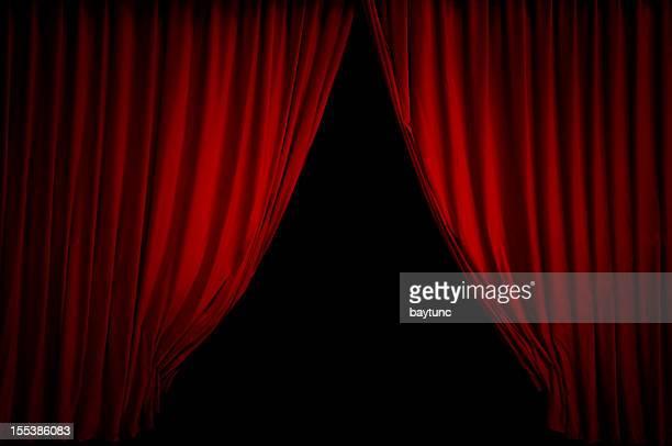 Red Bühne Vorhang