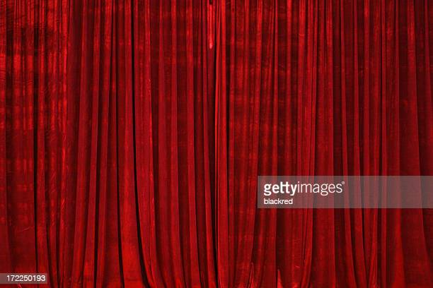 Rojo cortina de escenario