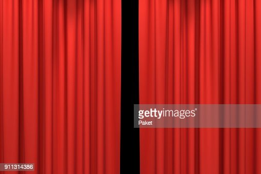 Red stage curtains : Stock Photo