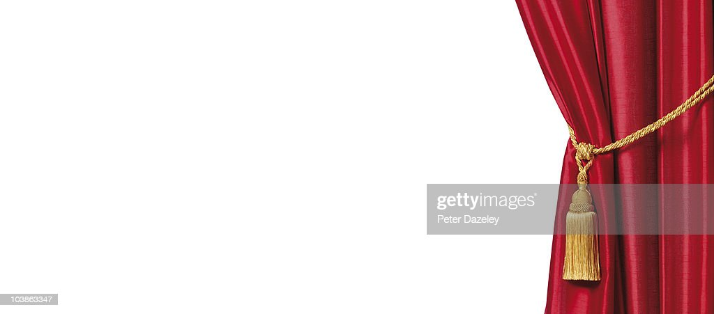 Red stage curtains with white copy space stock photo getty images