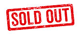 Red stamp on a white background - Sold out