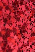 Red stars texture. Red valentine day background.