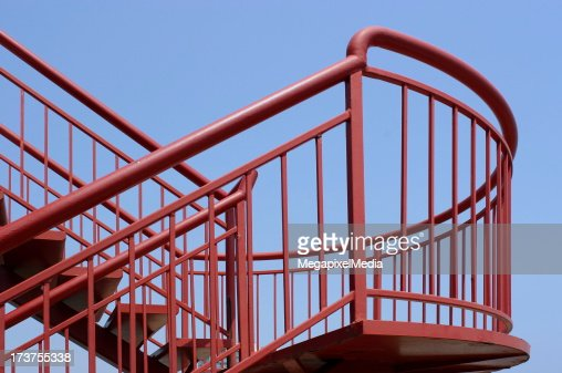 Red Steel Stairs