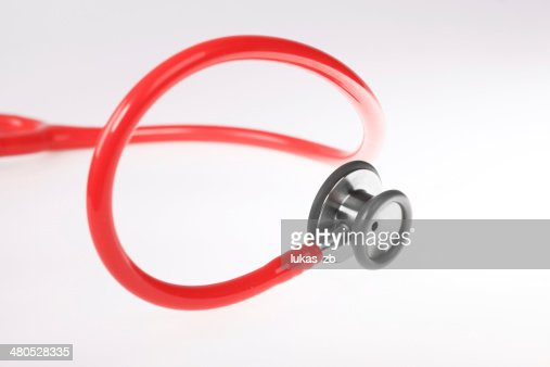 Red Stethoscope. : Stock Photo