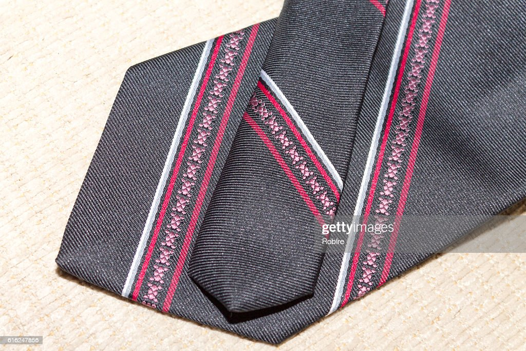 Red Striped Tie : Stock Photo