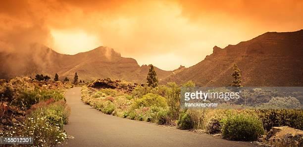 Red sunset landscape - Teide National Park