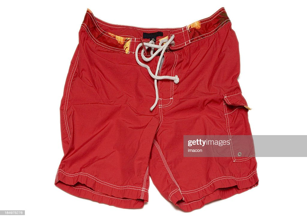 'Red Swimming Shorts Trunks (isolated, clipping path)'