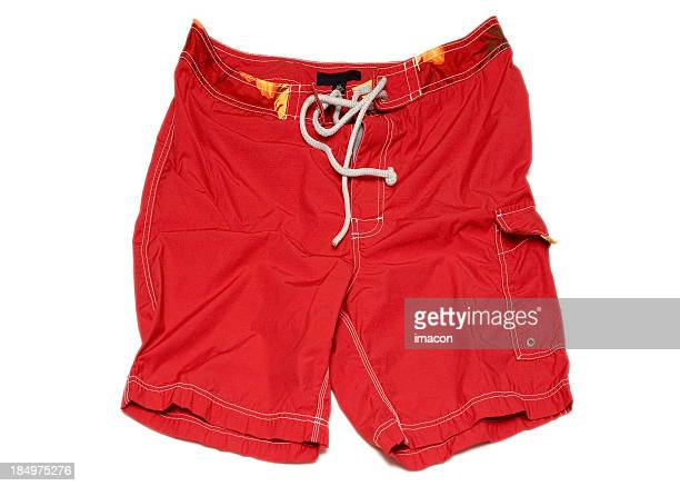 Red Swimming Shorts Trunks (isolated, clipping path)