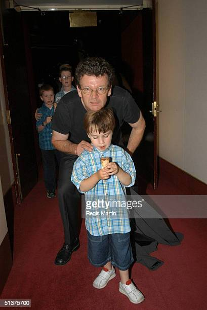 31/12/02 Red Symons and son Opening night after show party of The Lion The Witch and The Wardrobe at the Victorian Arts Centre in Melbourne