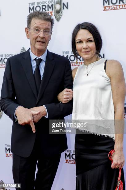 Red Symons arrives ahead of The Book of Mormon opening night at Princess Theatre on February 4 2017 in Melbourne Australia