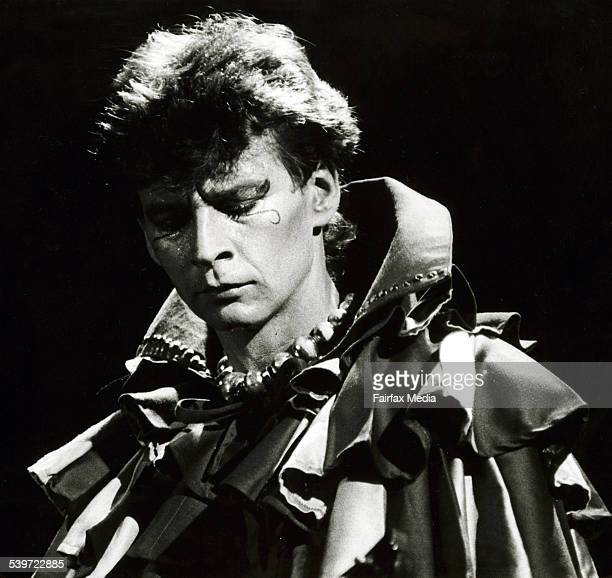 Red Symons lead guitarist of Skyhooks plays at the Anzac Day Concert at Festival Hall Melbourne 25 April 1983 Fairfax Picture by JOHN KRUTOP